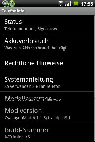 CyanogenMod Update (6.1.1 alpha 8.1) für Spica