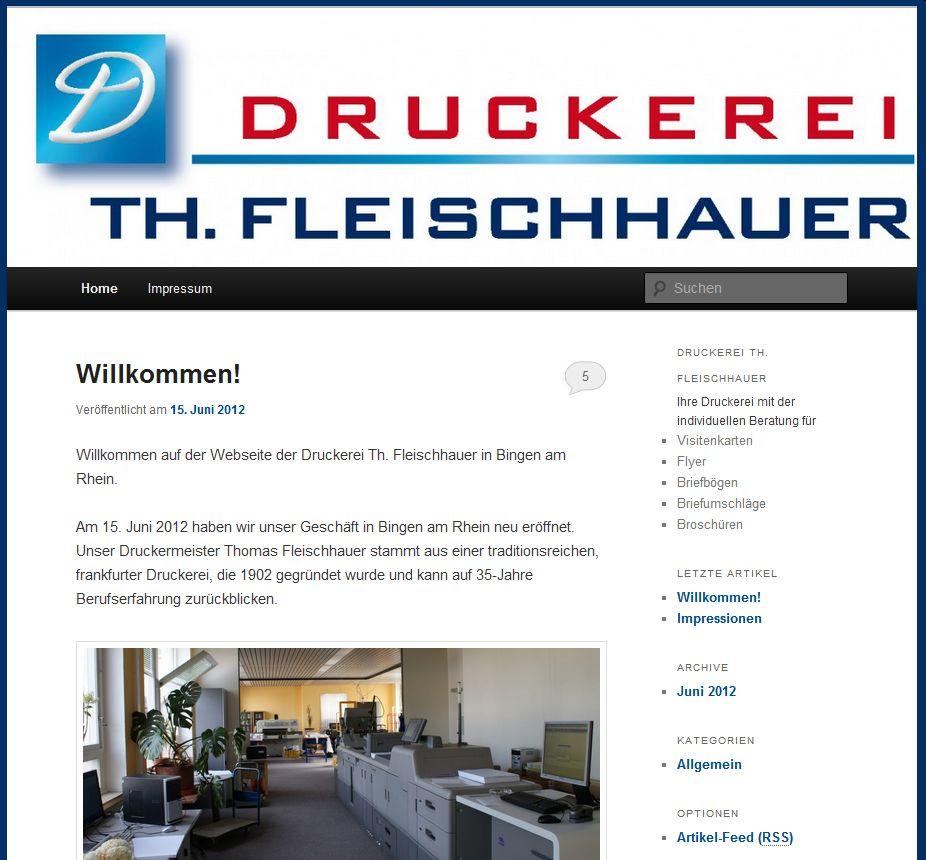 Druckerei Th. Fleischhauer jetzt online