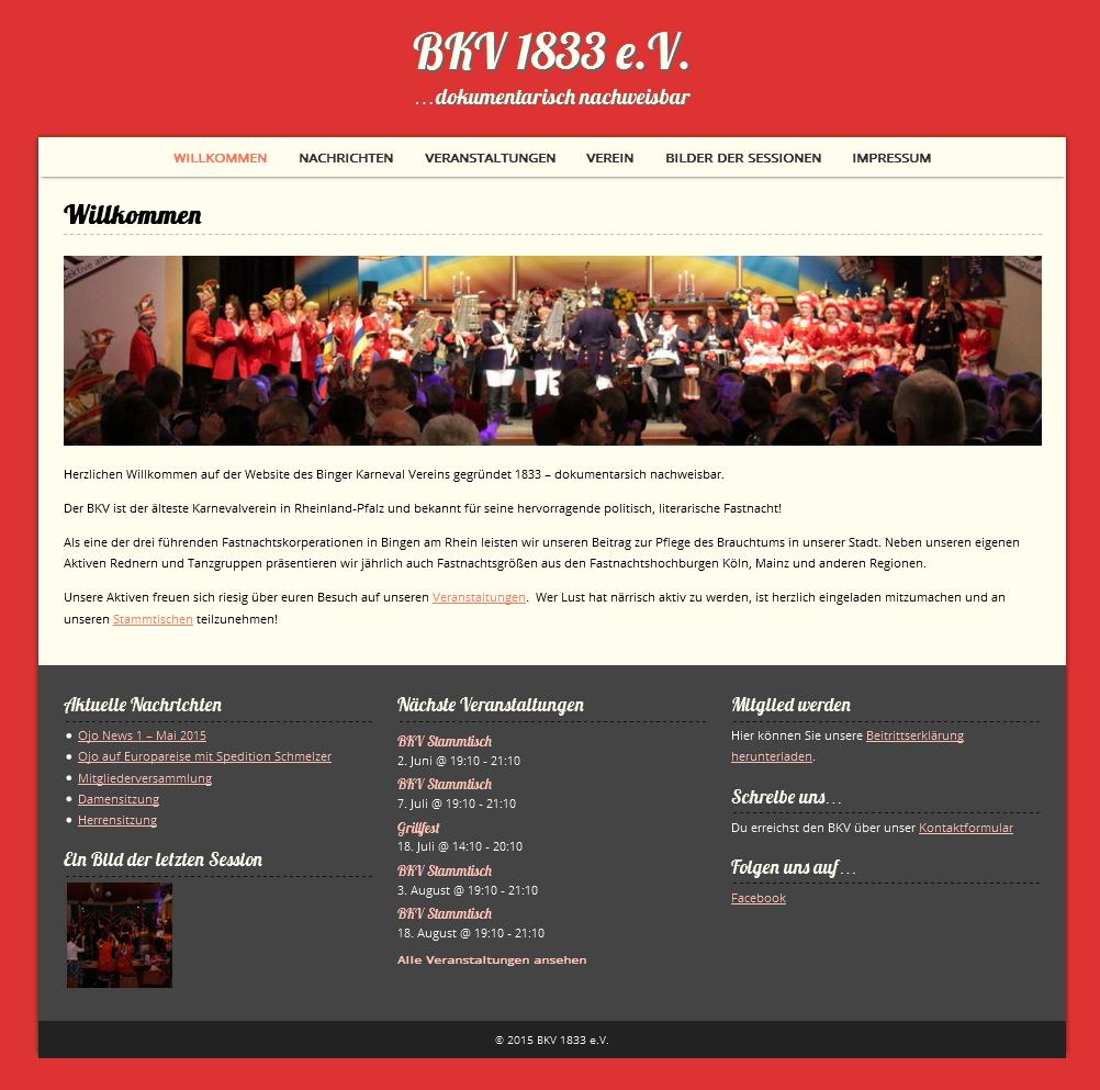 BKV 1833 e.V. Webseite online