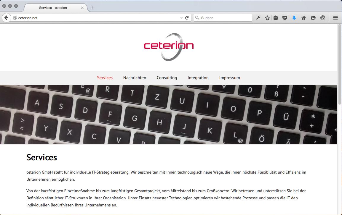 ceterion.net – Webseite online