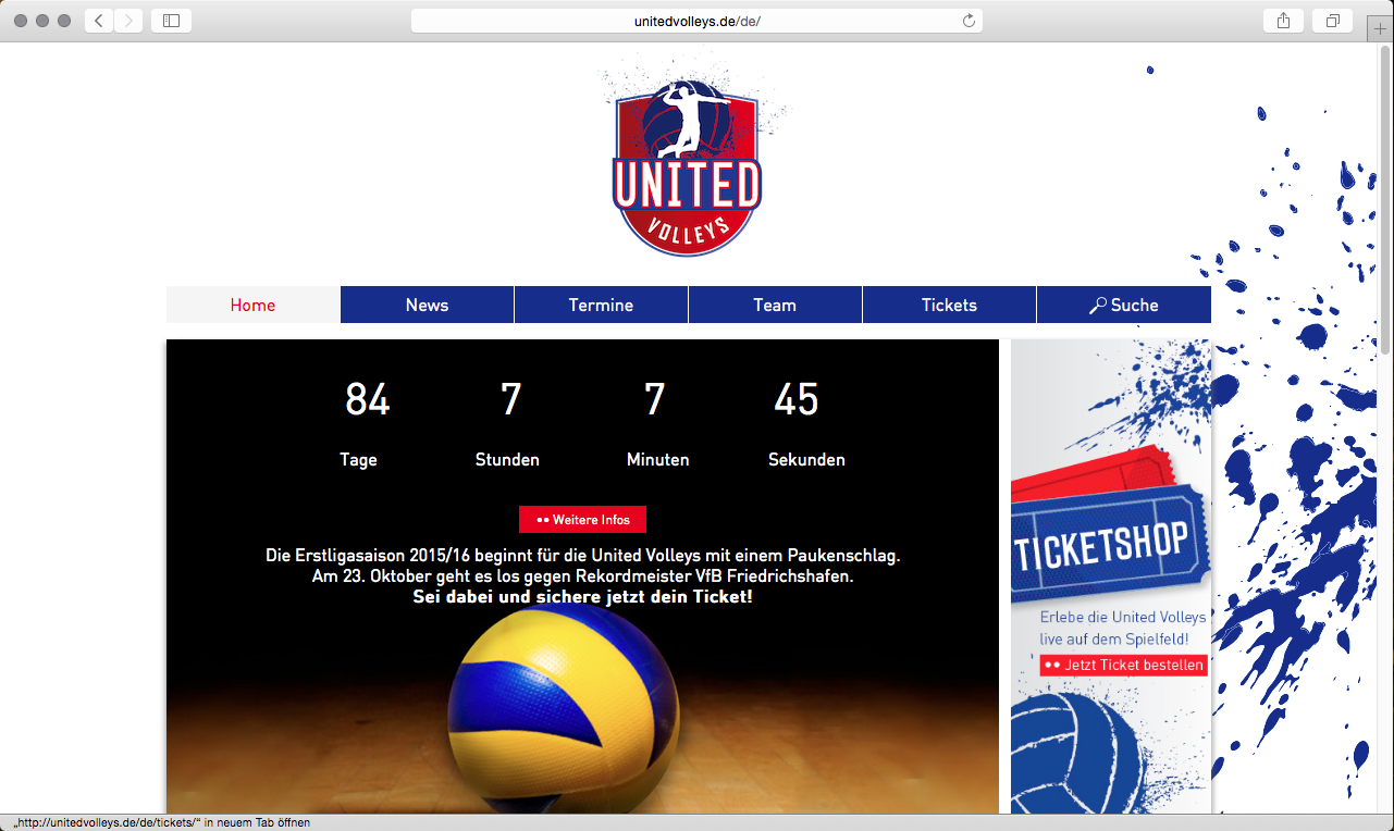 United Volleys online!