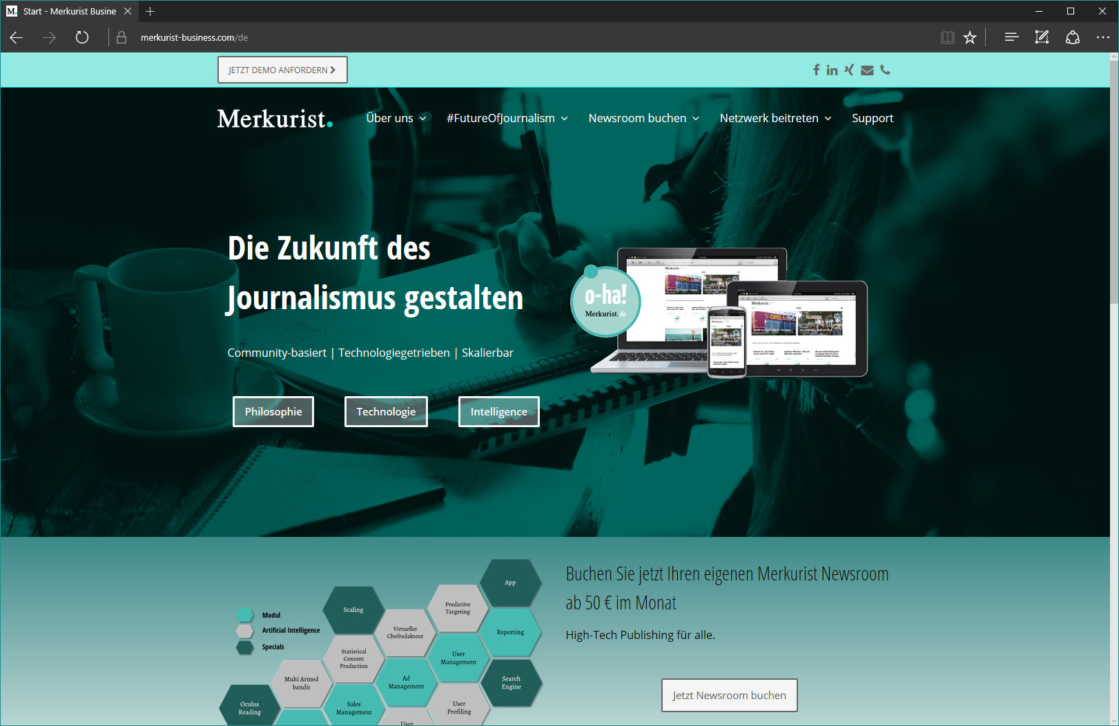 Merkurist Business Webseite online!